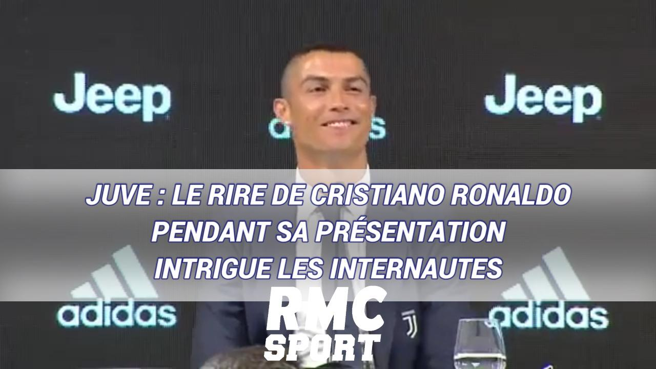 Juve Le Rire De Cristiano Ronaldo Pendant Sa Presentation Intrigue